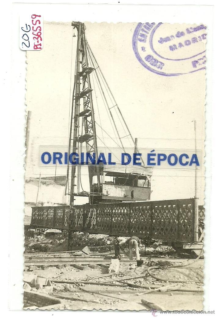 (PS-36559)POSTAL DE CARTAGENA-OBRAS EN EL PUERTO (Postales - España - Murcia Moderna (desde 1.940))