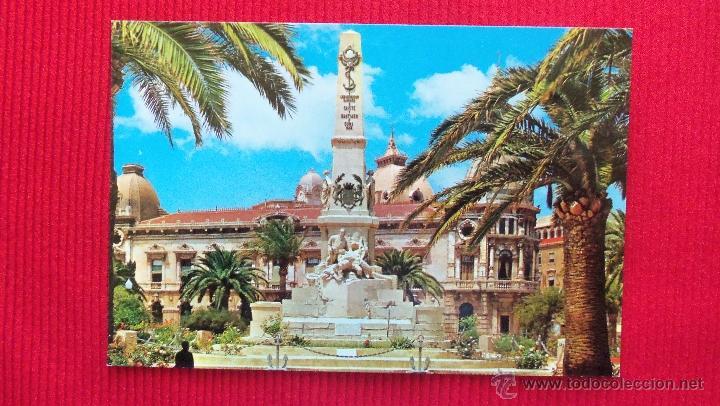 MONUMENTO A LOS HEROES SANTIAGO Y CAVITE - CARTAGENA - MURCIA (Postales - España - Murcia Moderna (desde 1.940))