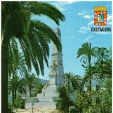 Postales: CARTAGENA.- MONUMENTO A LOS HÉROES DE CAVITE Y SANTIAGO DE CUBA, 1898.. Lote 39777019