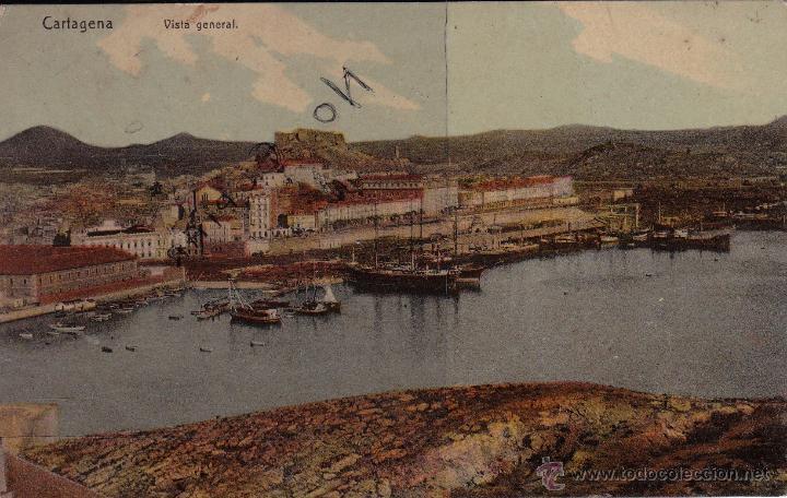 CARTAGENA - VISTA GENERAL (Postales - España - Murcia Antigua (hasta 1.939))