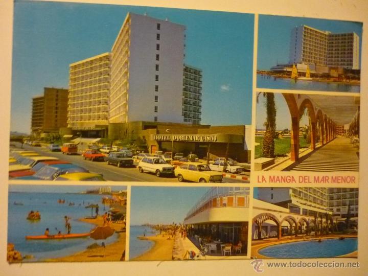POSTAL LA MANGA DEL MAR MENOR.-HOTEL CASINO DOBLEMAR-COCHES (Postales - España - Murcia Moderna (desde 1.940))