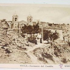Postales: ANTIGUA POSTAL DE YECLA - MURCIA - SANTUARIO DEL CASTILLO - ED. HUECOGRABADO FOURNIER - NO CIRCULADA. Lote 38249249