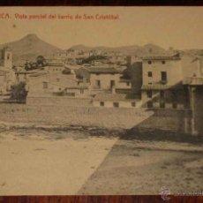 Postales: ANTIGUA POSTAL DE LORCA - MURCIA - VISTA PARCIAL DEL BARRIO DE SAN CRISTOBAL - ED. THOMAS - NO CIRCU. Lote 38258950