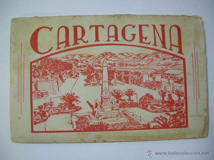 Postales: BLOC DE 10 POSTALES DE CARTAGENA FOTOS CASAÚ, AYTO. Y GOV. MILITAR, PUERTAS DE MURCIA, B. ESPAÑA,.., - Foto 2 - 40995348