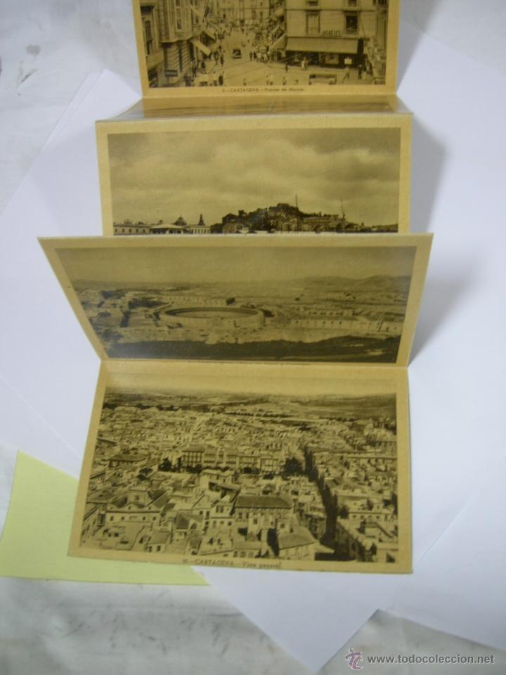 Postales: BLOC DE 10 POSTALES DE CARTAGENA FOTOS CASAÚ, AYTO. Y GOV. MILITAR, PUERTAS DE MURCIA, B. ESPAÑA,.., - Foto 5 - 40995348