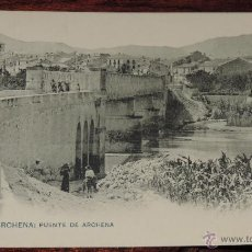 Postales: ANTIGUA POSTAL DE BAÑOS DE ARCHENA, MURCIA, PUENTE DE ARCHENA - CLICHE ACOSTA - ED. HAUSER Y MENET -. Lote 41004025