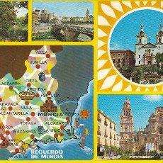 Postales: MURCIA, VISTA S Y MAPA DE MURVCIA, EDITOR: SUBIRATS CASANOVA Nº 110. Lote 41047548