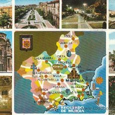 Postales: MURCIA, VISTAS Y MAPA DE MURCIA, EDITOR: SUBIRATS CASANOVA Nº 116. Lote 41047566
