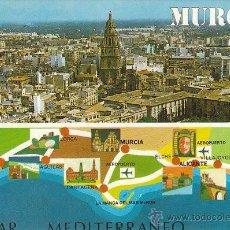 Postales: MURCIA, VISTA GENERAL Y MAPA, EDITOR: SUBIRATS CASANOVA Nº 158. Lote 41047679
