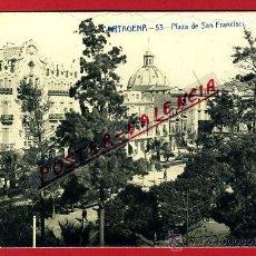 Postales: POSTAL CARTAGENA, MURCIA, PLAZA DE SAN FRANCISCO, FOTOGRAFICA, P92486. Lote 41525333
