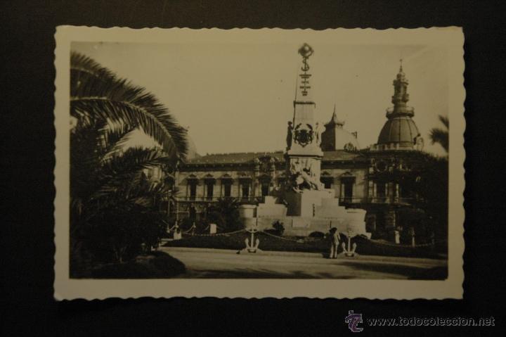 CARTAGENA. MONUMENTO A LOS HÉROES DE CAVITE Y AYUNTAMIENTO. NO CIRCULADA. ARRIBAS (Postales - España - Murcia Moderna (desde 1.940))