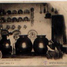 Postais: POSTAL ANTIGUA COCINA EN BENIAJAN MURCIA ED. CANOVAS SERIE F6 1901. Lote 42671528