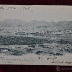 Postales: ANTIGUA POSTAL DE CARTAGENA. VISTA DESDE EL BARRIO DE LA CONCEPCION. HAUSER Y MENET. CIRCULADA. Lote 42951052