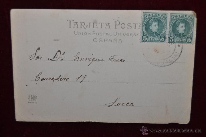 Postales: ANTIGUA POSTAL DE CARTAGENA. VISTA DESDE EL BARRIO DE LA CONCEPCION. HAUSER Y MENET. CIRCULADA - Foto 2 - 42951052