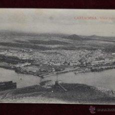 Postales: ANTIGUA POSTAL DE CARTAGENA. MURCIA. VISTA PANORAMICA. CIRCULADA. Lote 42951063