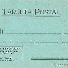 Postales: MURCIA - ALCANTARILLA, FÁBRICA DE CONSERVAS Y PIMENTÓN.. Lote 42957216