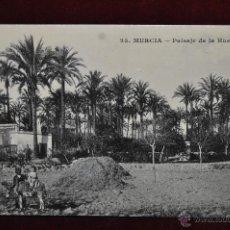 Postales: ANTIGUA FOTO POSTAL DE MURCIA. PAISAJE DE LA HUERTA. CIRCULADA. Lote 43093054