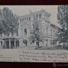 Postales: ANTIGUA POSTAL DE MURCIA. TEATRO ROMEA. HAUSER Y MENET. CIRCULADA. Lote 43125017
