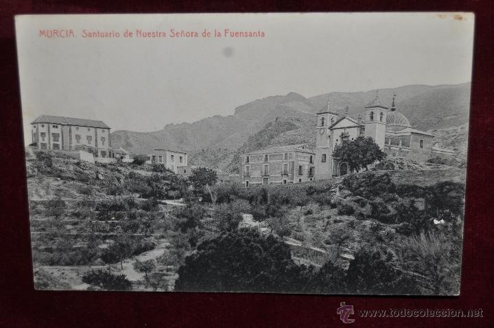 ANTIGUA POSTAL DE MURCIA. SANTUARIO DE NTRA. SRA. DE LA FUENSANTA. FOTPIA. THOMAS. CIRCULADA (Postales - España - Murcia Antigua (hasta 1.939))