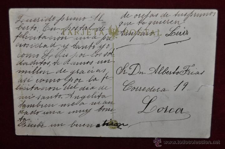 Postales: ANTIGUA POSTAL DE MURCIA. MONUMENTO DE LA FAMA. FOTPIA. THOMAS. ESCRITA - Foto 2 - 43125306
