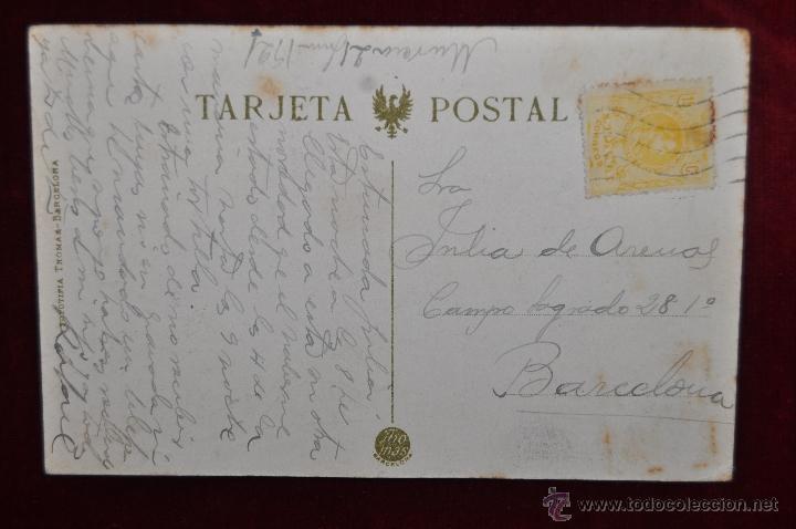 Postales: ANTIGUA POSTAL DE MURCIA. VISTA PANORAMICA HACIA MONTEAGUDO. FOTPIA. THOMAS. CIRCULADA - Foto 2 - 43125335