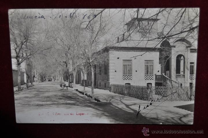 FOTO POSTAL DE LORCA. MURCIA. CALLE DE ESPANERO. ESCRITA (Postales - España - Murcia Antigua (hasta 1.939))