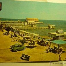 Postales: POSTAL LOS ALCAZARES-MAR MENOR .-PLAYA DE LA CONCHA.-COCHE SEAT --ESCRITA. Lote 43354137