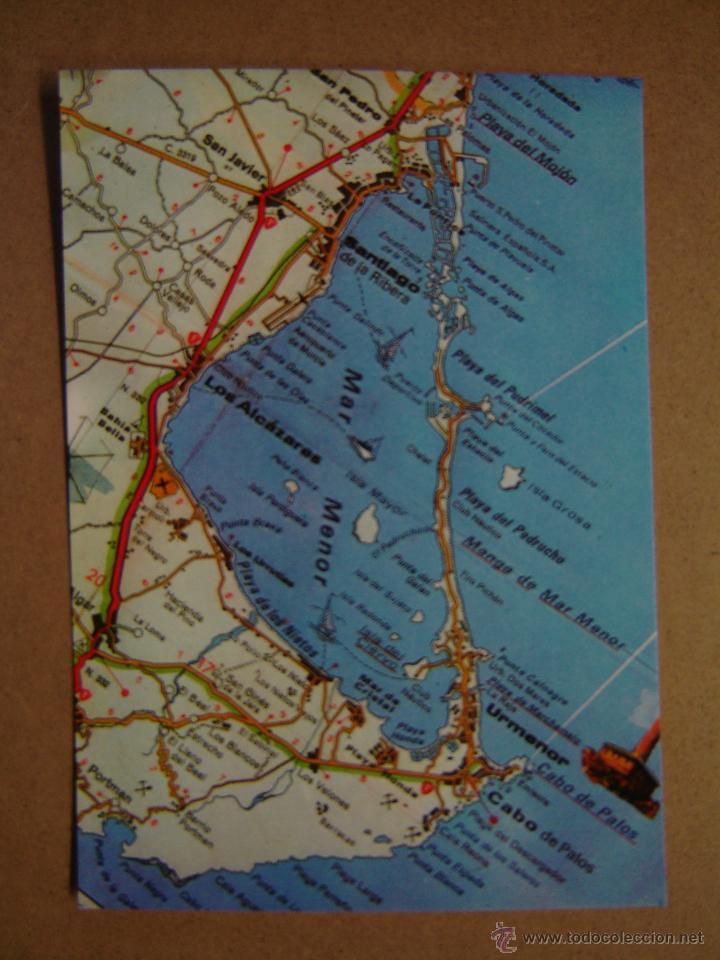 POSTAL MAPA DEL MAR MENOR - MURCIA (Postales - España - Murcia Moderna (desde 1.940))