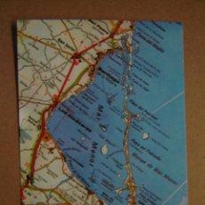 Postales: POSTAL MAPA DEL MAR MENOR - MURCIA. Lote 206216597