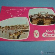 Postales: POSTAL DEL HOTEL CORZO. LOS ALCÁZERES. MURCIA. ESPAÑA. AÑO 1977. Lote 43597987