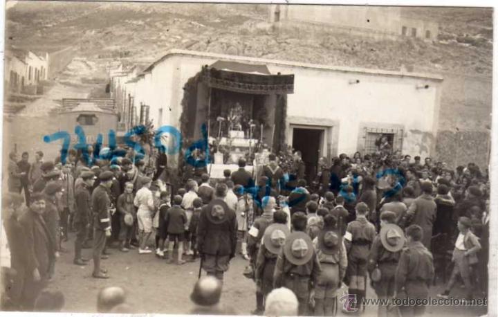 POSTAL FOTOGRÁFICA. CARTAGENA FOTO SAN CHITO. FIESTA DE LA CRUZ ROJA 1930 EXPLORADORES, BOY SCOUT (Postales - España - Murcia Antigua (hasta 1.939))