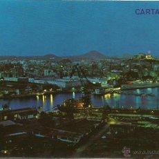 Postales: CARTAGENA, PUERTO Y VISTA PARCIAL NOCTURNA - ED. ARRIBAS Nº 48 - SIN ESCRIBIR. Lote 44924401
