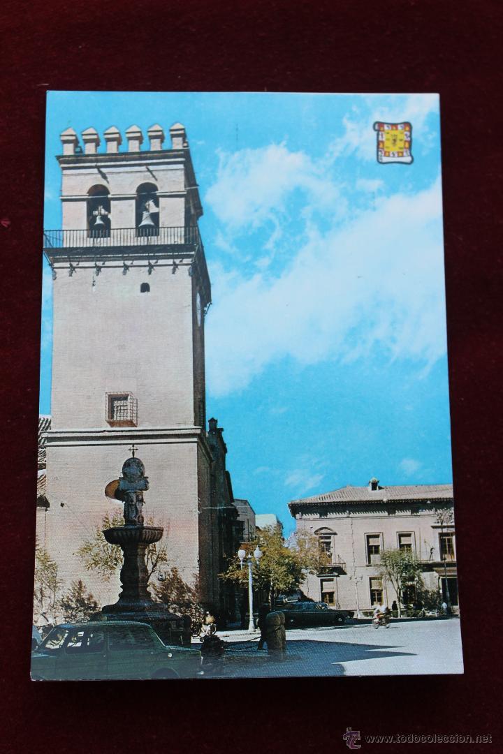 POSTAL IGLESIA PARROQUIAL Y PLAZA DEL GENERALISIMO, TOTANA MURCIA (Postales - España - Murcia Moderna (desde 1.940))