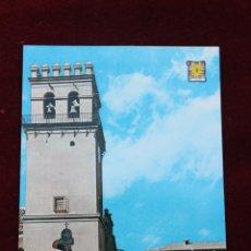 Postales: POSTAL IGLESIA PARROQUIAL Y PLAZA DEL GENERALISIMO, TOTANA MURCIA. Lote 45823745
