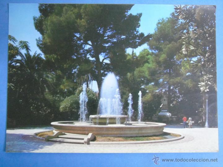 POSTAL DE MURCIA. AÑO 1976. JUMILLA, PARQUE MUNICIPAL, FUENTE. 735 (Postales - España - Murcia Moderna (desde 1.940))