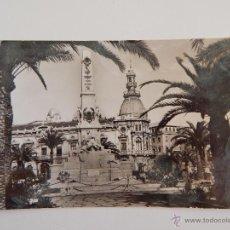 Postales: CARTAGENA: MONUMENTO A LOS HÉROES DE CAVITE Y AYUNTAMIENTO. Lote 46846084