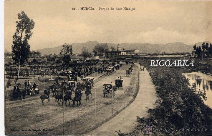 MURCIA.- PARQUE DE RUIZ HIDALGO (Postales - España - Murcia Antigua (hasta 1.939))