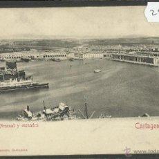 Postales: CARTAGENA - ARSENAL Y ESCUADRA - ED· BERNARDO LASSERE - REVERSO SIN DIVIDIR (28732). Lote 47331199
