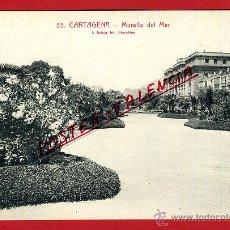 Postales: POSTAL CARTAGENA, MURCIA, MURALLA DEL MAR, P97505. Lote 47449681