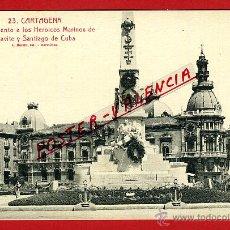 Cartoline: POSTAL CARTAGENA, MURCIA, MONUMENTO A LOS HEROICOS MARINOS DE CAVITE Y SANTIAGO DE CUBA, P97511. Lote 47449878