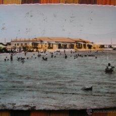 Postales: POSTAL FOTOGRAFICA PINTADA SAN PEDRO DE PINATAR MURCIA PLAYA DEL MAR MENOR. Lote 47488273