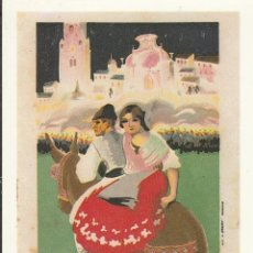 Postales: Nº 23796 POSTAL REPRODUCCION PROGRAMA FIESTAS ABRIL 1932. Lote 47580515