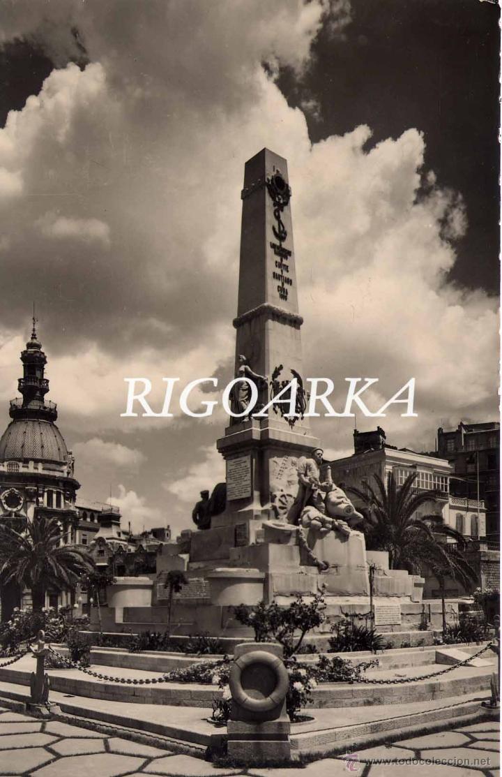 CARTAGENA (MURCIA).- MONUMENTO A LOS HÉROES DE SANTIAGO Y CAVITE (Postales - España - Murcia Moderna (desde 1.940))