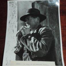 Postales: FOTOGRAFIA DE ALEDO (MURCIA) UN TIPO DE LA ANTIGUA VILLA, ES MUY GRANDE, MIDE 24 X 18,3 CMS.. Lote 49385200