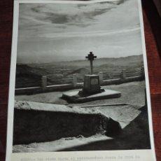 Postales: FOTOGRAFIA DE ALEDO (MURCIA) UNA VISTA HASTA EL MEDITERRANEO, DESDE LA CRUZ DE LOS CAIDOS, ES MUY GR. Lote 49385298
