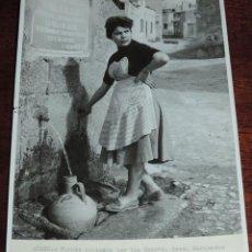 Postales: FOTOGRAFIA DE ALEDO (MURCIA) FUENTE COSTEADA POR LOS EXCMOS. SRES. MARQUESES DE ALEDO, ES MUY GRANDE. Lote 49385325