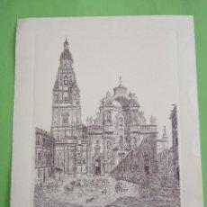 Postales: TARJETA GRANDE - CATEDRAL DE MURCIA - EDICIONES JHERR - GRABO PINTO - ROUARGUE HS DIBUJARON. Lote 49528353