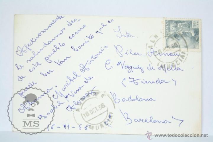 Postales: Antigua Postal / Fotografía de Alhama de Murcia. Año 1956 - Circulada - Foto 2 - 49670845