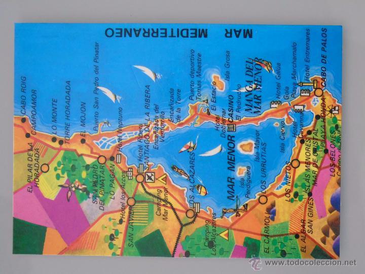 Postal De Murcia Ano 1989 La Manga Del Mar Menor Plano Mapa 848