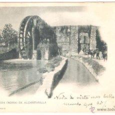 Postales: MURCIA LA RUEDA (NORIA) DE ALCANTARILLA CIRCULADA EN 1900. Lote 43602359